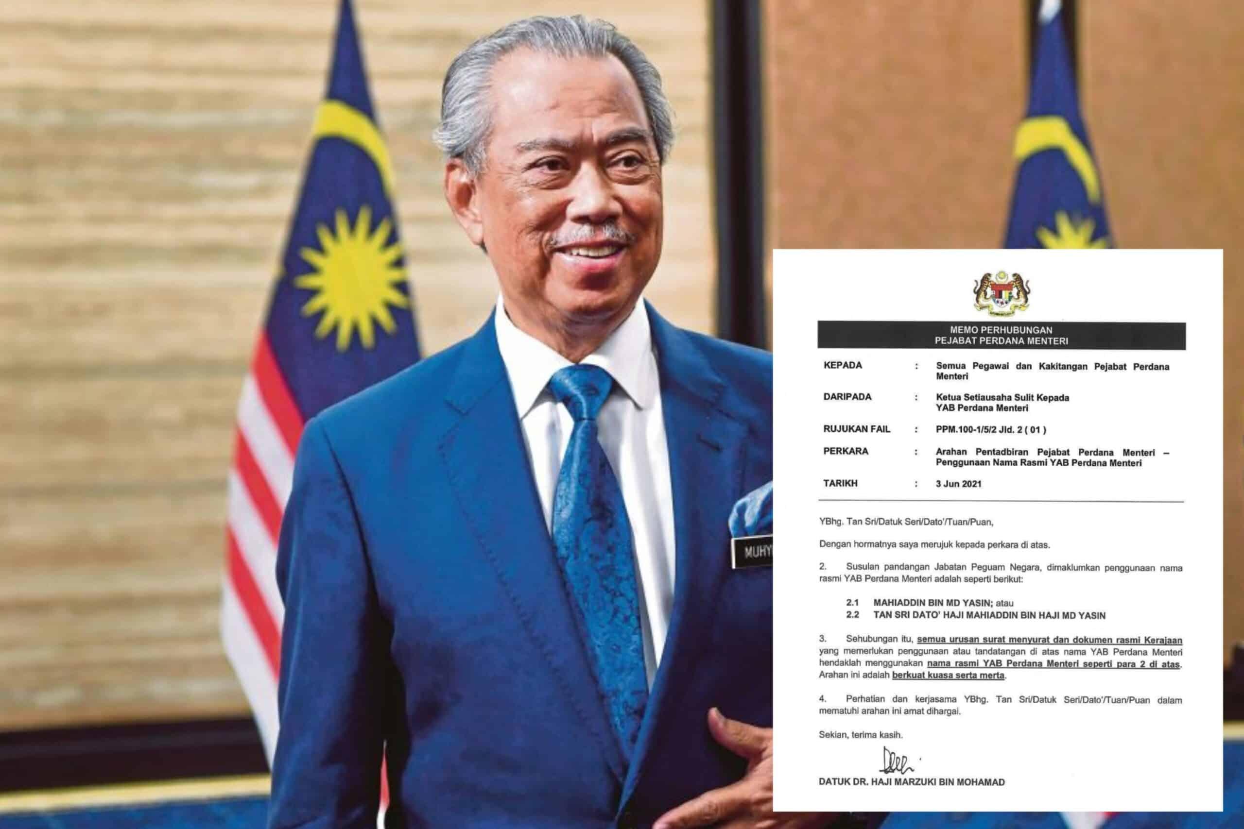 Pejabat Peguam Negara nasihat PM guna nama sebenar