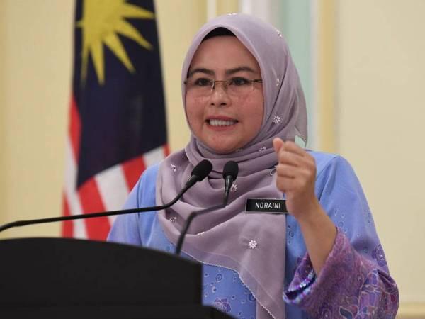 Letak jawatan Menteri tanda setia pada parti – Noraini