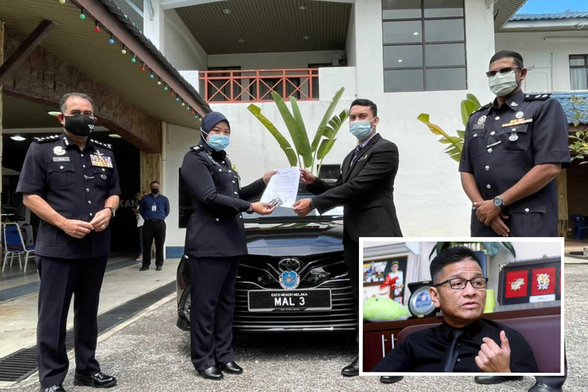 Polis rampas kereta bekas ADUN